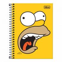 Caderneta Espiral Capa Dura 1/8 96 Folhas Simpsons Tilibra