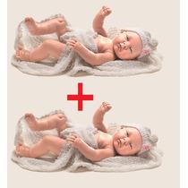 Kit 2 Boneca Coleção Bebês Anjo Criança Menina Estilo Reborn