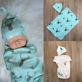 Cobertor, Cueiro Bebê Importado Com Touca