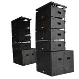 Line Array Amplificado Caixa Som 2 Subwoofer 18 + 2 Woofer 8