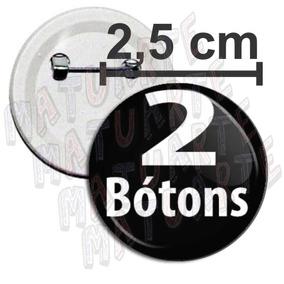 2 Botons 2,5cm Boton Broches Bottons Botton Personalizados