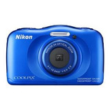 Nikon Coolpix S33 Impermeable Cámara Digital (azul)