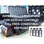 Impresora Canon Ip1800 + Sistema De Tinta Comestible Vegetal