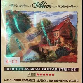Cuerda 4ta Cuarta (re) Alice Para Guitarra Clasica