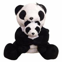 Pelúcia Urso Panda Com Filhote