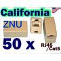 50 X Conectores Micro Inc. Cat 5e Rj45 Stright A Través