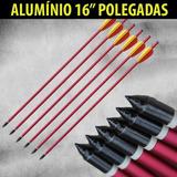 06 Setas Flechas Alumínio S-16 Besta Balestras 150 A 200 Lb