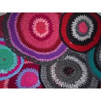 Alfombra De Totora Tejida A Crochet