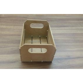 Caixote Feira Mdf Cru Mini 12x10x7 Lembrancinha 40 Peças