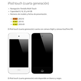 Ipod Touch (4ta Generacion) 32gb
