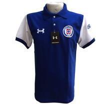 Playera Tipo Polo Equipo Cruz Azul 100% Algodón
