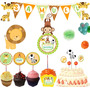 Kit Imprimible Jungla Selva Animalito Primer Año Baby Shower