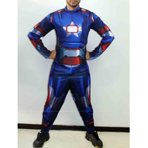Fantasia Homem De Ferro Azul Iron Man Adulta