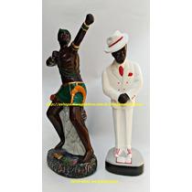 Escultura Orixa Africano Oxossi 45cm Zé Pilintra Imagem 40cm