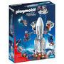 Cohete Espacial De Playmobil Con El Sitio De Lanzamiento