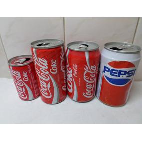 Latas Coca Cola Pepsi Antiguas Distintos Paises Lote X 4