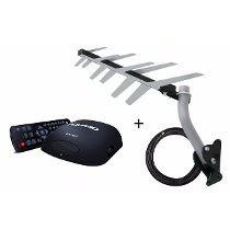 Kit Conversor Digital Dtv5000 + Antena Externa Hdtv Dtv-2000
