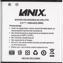 Batería Lanix Illium S106 S130 1400 Mah Original Garantia