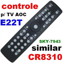 Controle Remoto Tv Philips Aoc E22t Sky-7943 Similar Cr8310