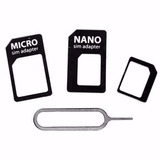 Adaptador Nano Chip, Mini, Micro Sim Card + Ejetor Chip