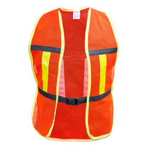 Chaleco De Seguridad En Malla Naranja Y Bies Amarillo