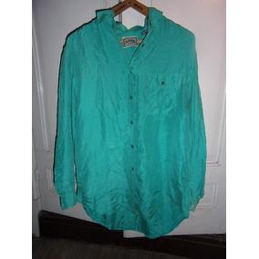 Camisa De Satén Verde Para Dama, Talle Xl. Muy Cómoda