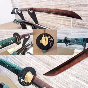 Katana Afiada Ninja Samurai Aço T10 Negro Pronta Entrega