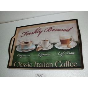 Bandeja Decorativa Coffee - Mdf 9 Mm - 41 Cm X 29 Cm 4985