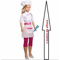 Boneca Stephany Gigante 1 Metro Master Chef Grande