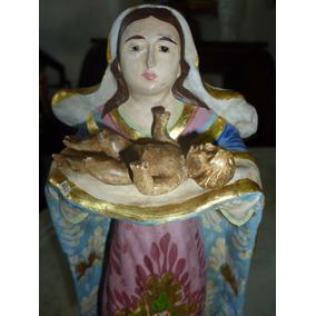 Nossa Senhora Do Parto Antiga 21,5 Cm