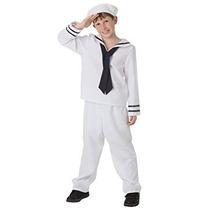 Disfraz Para Niños Traje De Marinero Blanco Big Boys