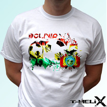 Remera Bolivia Football Flagwhite Futbol