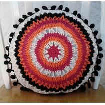 Almohadón Redondo A Crochet