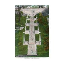Galena, Illinois, View Of The High School Steps Print, 24