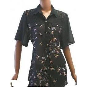 Camisas Gasa Estampada Mangas Cortas T Xl A Xxl $ 390
