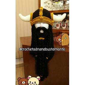 Gorro Vikingo Crochet Tejido