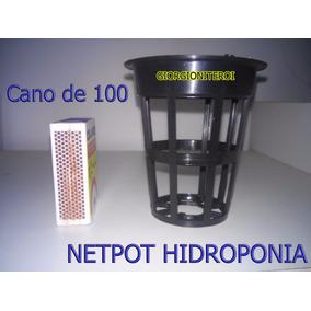 10und Net Pot 100 Aquario Hidroponia Cano Pvc Copo Rede Pote