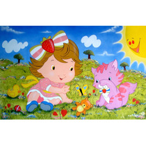 Banner Painel Gigante 2,40x1,30 Decoração Moranguinho Baby