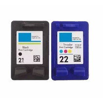 Cartuchos 21preto + 22 Color Para Impressora Deskjet D2360