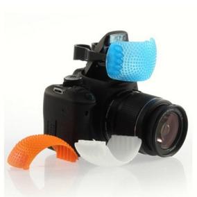 Difusor Flash Dslr 3 Cores P/canon Nikon Pentax Leica Etc..