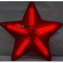Estrela Pisca Pisca Natal Led 50cm Bivolt Vermelho