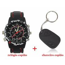 Relógio Espião 8gb+chaveiro Espião 8gb- Kit Relógio+chaveiro