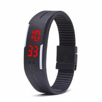 Relógio Led Digital Bracelete Pulseira Silicone Unissex