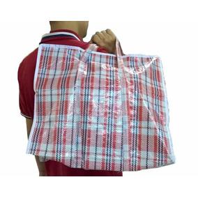 1 Sacola/saco De Feira Média Sacoleira C/ Ziper P/ Compras