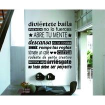 Vinilos Decorativos Frases Pared 2 X 1 + Regalo!!