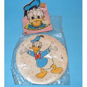 Antiguo Set 10 Platos De Carton Pato Donald Disney En Pack