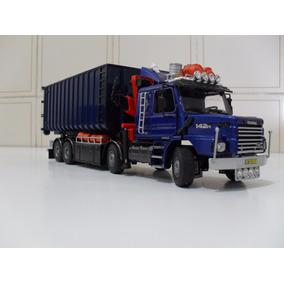 Miniatura Scania + Reboque Porta Sucata