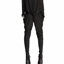 Pantalon Bombacho Microelasticado Color Negro