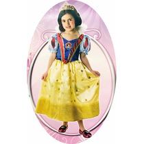 Disfraz Blanca Nieves Con Corona 3/4 Años Disney Princesas