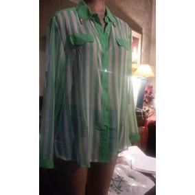 Camisa En Gasa Rayada Talle M